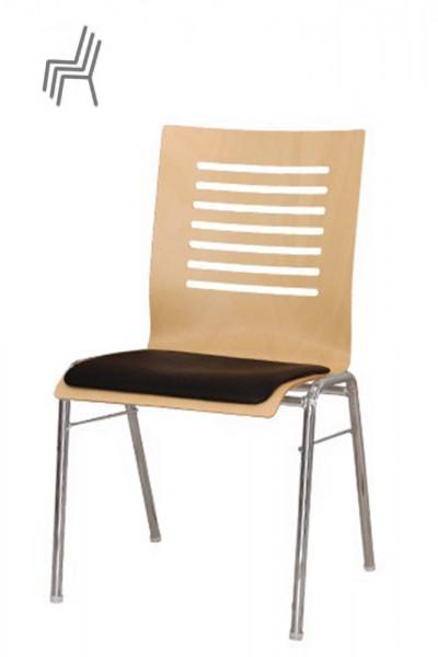 Gestell: Metall | Sitzschale: Buche Natur | Bezug: Sonderbezug