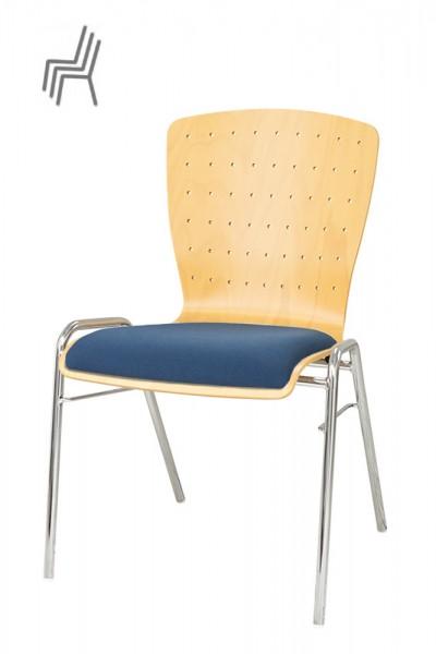 Gestell. Metall | Sitzschale: Buche Natur | Bezug: Sonderbezug