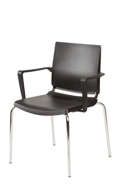Gestell: Metall | Sitz / Rücken / Armlehne: Kunststoff
