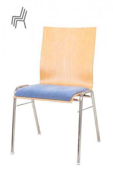Gestell: Metall | Sitzschale: Buche Natur | Beug: Sonderbezug