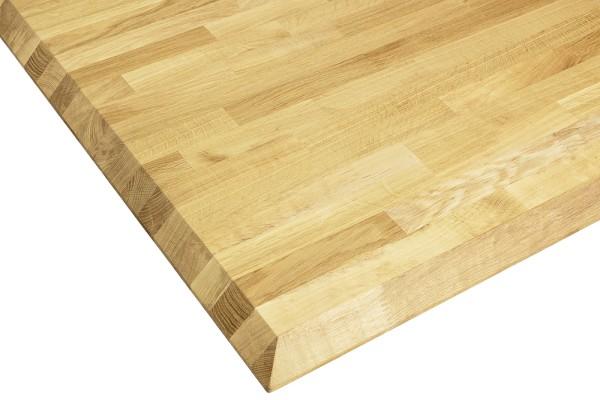 Tischplatte Eiche mit Facettenkante 26 mm