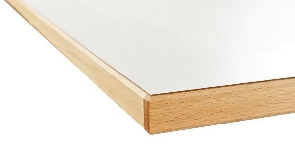 Tischplatte HPL mm mit gefaster Massivholzkante