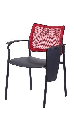 Gestell: Metall (Schwarz) | Sitz / Armlehnen: Kunststoff | Rücken: Stoff