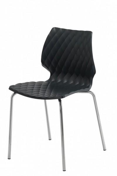 Gestell: Metall   Sitzschale: Tiefschwarz