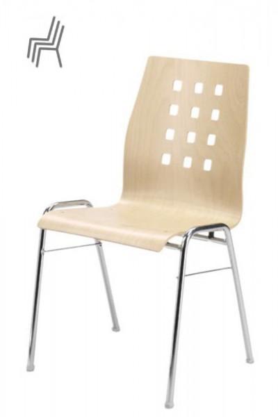 Gestell: Metall | Sitzschale: Buche Natur