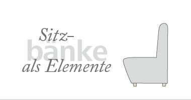 Sitzbänke als Elemente