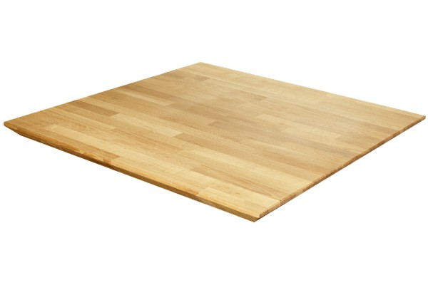Eiche massiv 26 mm mit Facetten-Kante Tischplatte