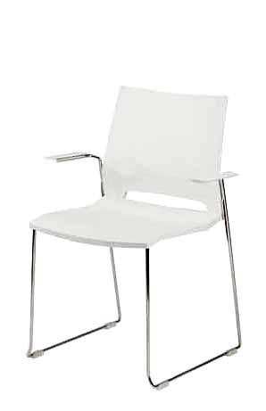 Gestell: Metall | Sitz / Armlehnen: Kunststoff (Weiß)