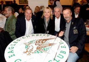 v.l. Eagles-Präsident Frank Fleschenberg, Staatsministerin Dr. Beate Merk, Frank Geßmann und Schauspieler Michael Roll